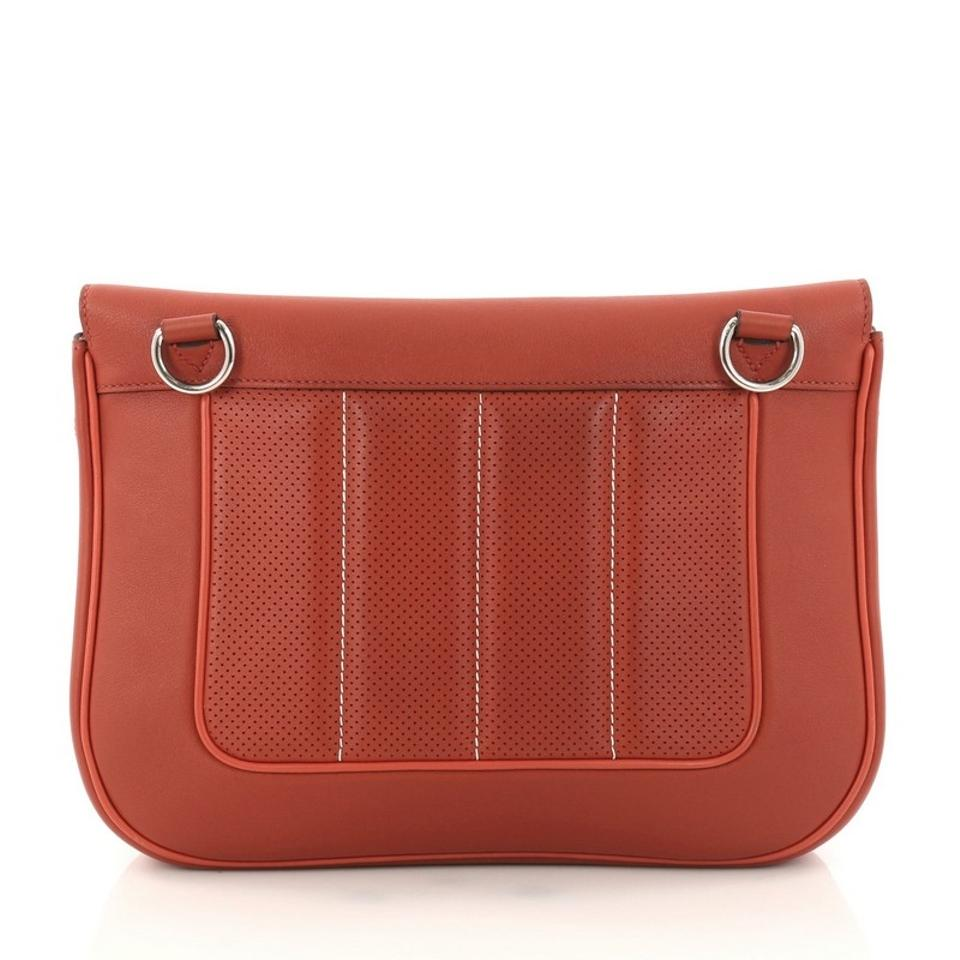 e37e9c0e15b0 Hermès Berline Handbag Perforated Swift 28 Orange Leather Cross Body Bag  58% off retail