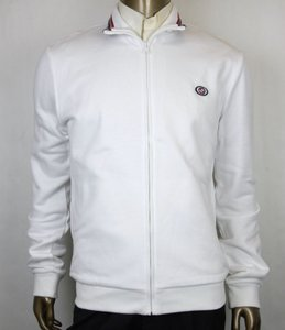 Gucci White XL Cotton Felted Twill Zip Up Interlocking G Jacket 322971 9014 Groomsman Gift