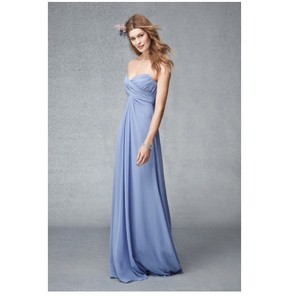 Monique Lhuillier Sky Chiffon 450244 Feminine Bridesmaid/Mob Dress Size 10 (M)