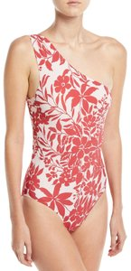 Red Carter Red Carter Shirred One Shoulder Ruby Maillot One-Piece Swimsuit