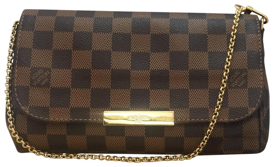 649e58b2 Louis Vuitton Favorite Pm with Dustbag. Amazing Brown Damier Ebene Canvas  Cross Body Bag