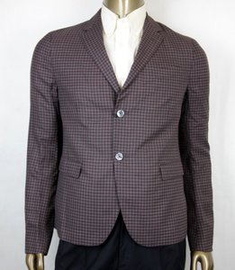 Gucci Grey/Burgundy Vichy Wool Gauze Jacket 2 Buttons 54r/Us 44r 406675 6086 Groomsman Gift
