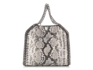 Stella McCartney Snakeskin Chain Sm.p0628.10 Vegan Python Tote in Gray