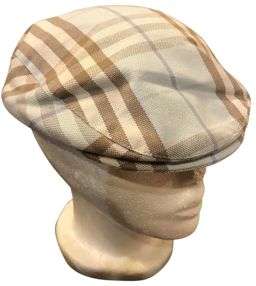 2b8af2b9222 Burberry Burberry London Woman s Newboy Cap BLUE Check Nova Size Small Hat  Image 0 ...