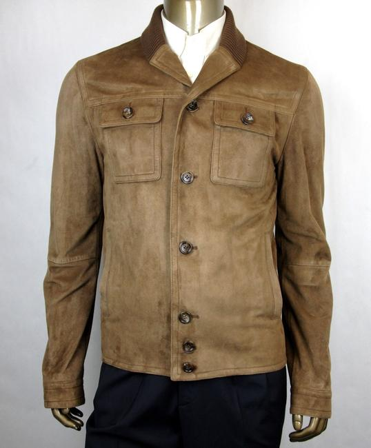 Item - Brown Bengal Suede and Knit Jacket 6 Buttons It 46r/Us 36r 387684 2475 Groomsman Gift