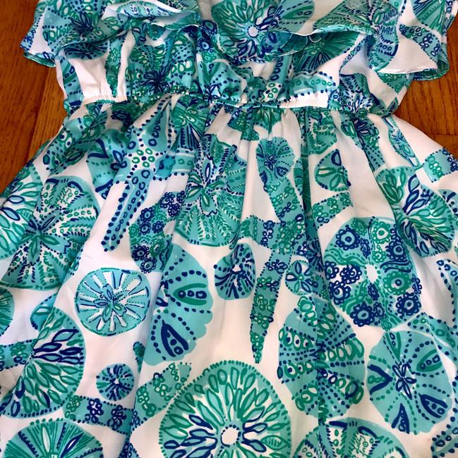 Lilly Pulitzer for Target short dress white, turquoise print on Tradesy Image 1