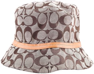 1644c00a398 Coach Coach Monogram Signature Logo Bucket Hat