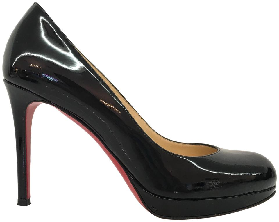 Christian Louboutin Patent Black Patent Louboutin Simple Pump Platforms 1c3889