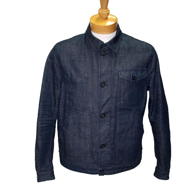 Item - Dark Blue Classic Dq2 Men's Button Down It/Fr Jacket Size OS (one size)