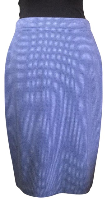 Item - Blue/Lavender Pencil Knit .. 22 Inches In Length Skirt Size 4 (S, 27)