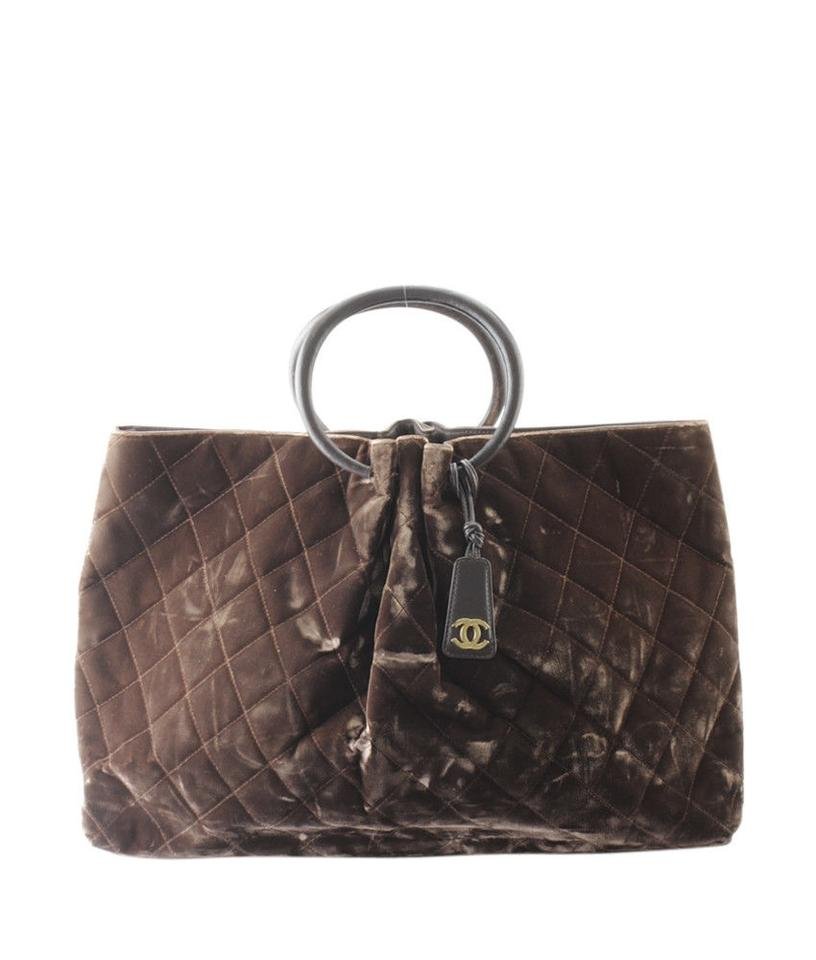 Chanel Quilted Brown Velvet Tote - Tradesy 4fa4123f3ff1c