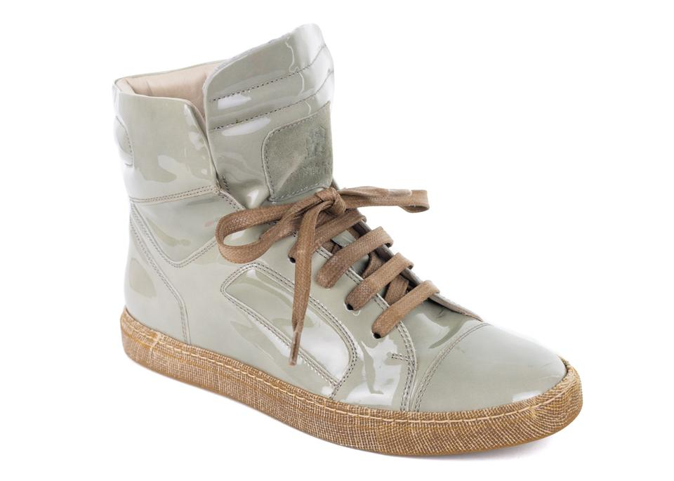 Sneakers Patent Light Sneakers Brunello Women's Lace Up Cucinelli Green Aw8xwqBtYF