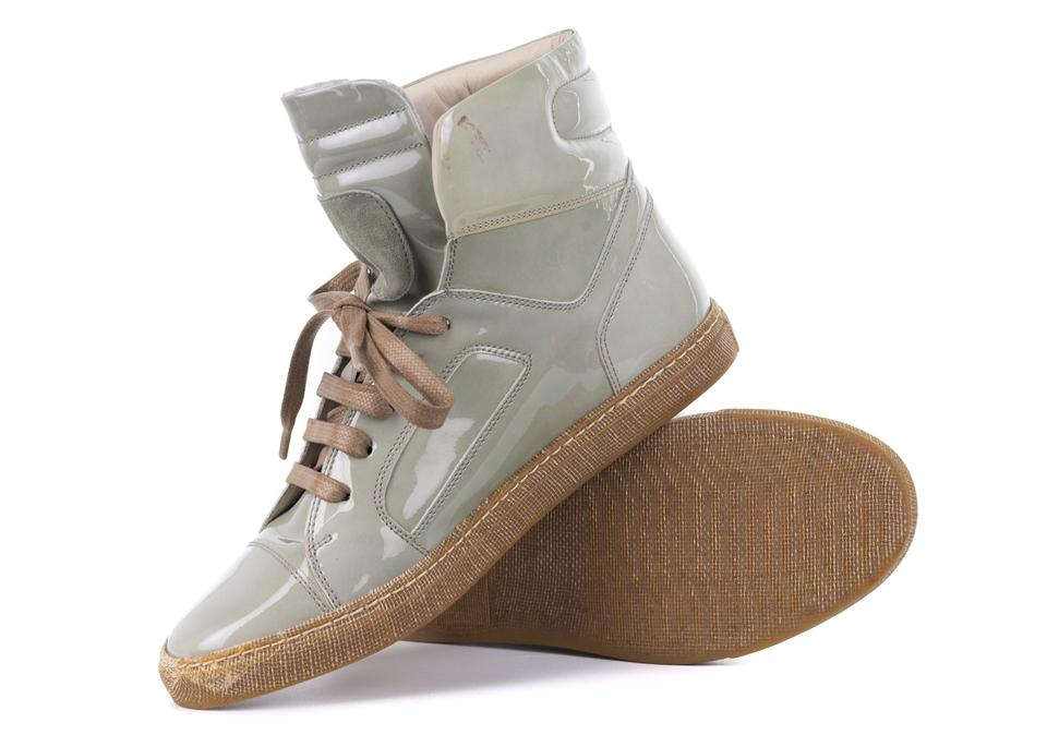 Lace Women's Light Green Cucinelli Sneakers Brunello Patent Up Sneakers nOaqIExw