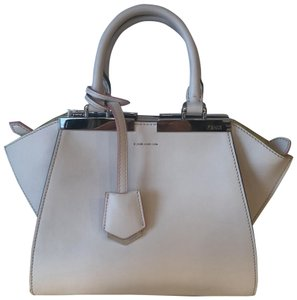 7e8114c91f Fendi Satchel in Beige and Pale green leather details and contrasting  enameled bar.