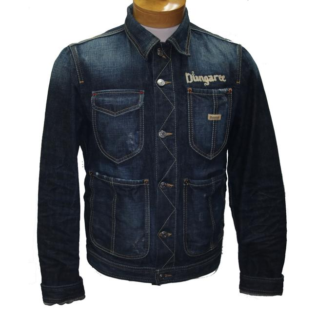 Item - Blue Classic Men's Dungaree2 Embroidered Button Down Jacket Size OS (one size)