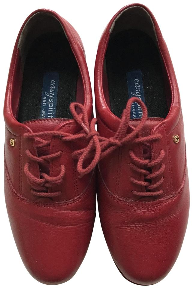 70613a6052 Easy Spirit Red Motion Leather Oxfords Sneakers Size US 6.5 Regular ...
