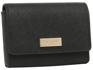 Kate Spade NEW Kate Spade gold logo Saffiano leather business card holder case