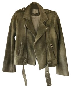 IRO olive green Leather Jacket