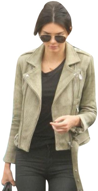 Item - Olive Green Textured Jacket Size 8 (M)