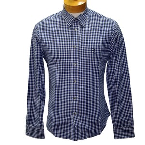 Alexander McQueen Multicolor Blue Classic Mcq Plaid Button Down Men's Long Sleeve Size Small Shirt