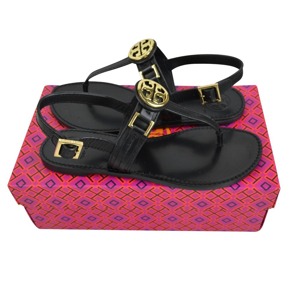 1d443383772f Tory Burch Black Cassia Flat Thong Sandals Size US 8 Regular (M