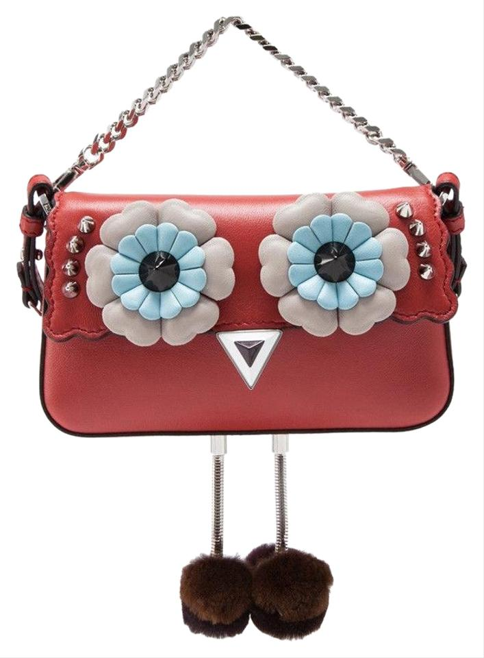 6966257ba205 Fendi Hypnoteyes Micro Baguette Red Nappa Leather Cross Body Bag ...