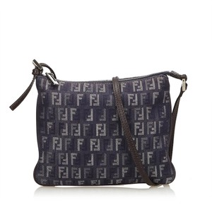 7689d85019a5 Fendi 8ffnsh002 Shoulder Bag. Fendi Zucchino Crossbody Blue Fabric X  Jacquard X Leather X Others ...