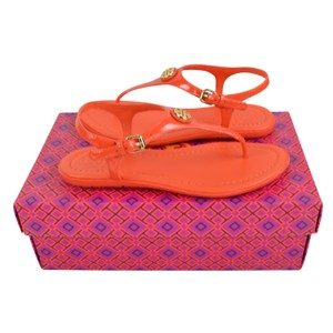 7f748ffa5 Tory Burch Tara Thong Patent Flat Poppy Red Sandals