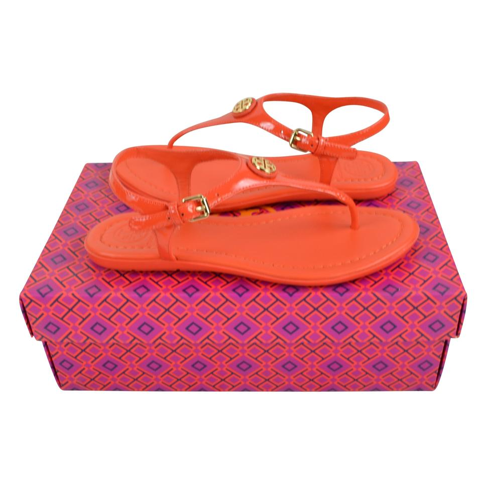 4c46b421a86 Tory Burch Poppy Red Tara Flat Thong Sandals Size US 6 Regular (M