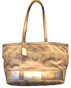 Coach Multi Tan W-metallic Accent Messenger Bag
