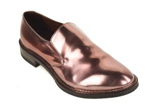 Brunello Cucinelli Patent Leather Slip Ons Burgundy Formal