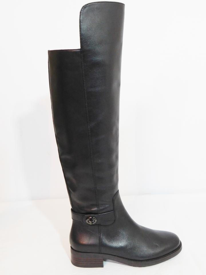 70b449f359f Coach Black Emmie Over The Knee Leather Boots/Booties Size US 5 Regular (M,  B) 57% off retail