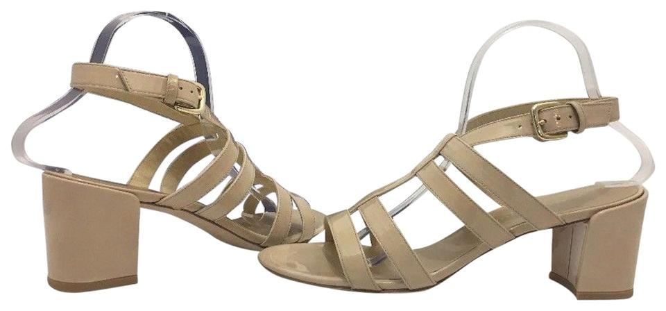 eafce1ca68d Stuart Weitzman Naked Nude Patent Leather Charol Women s Sandals ...