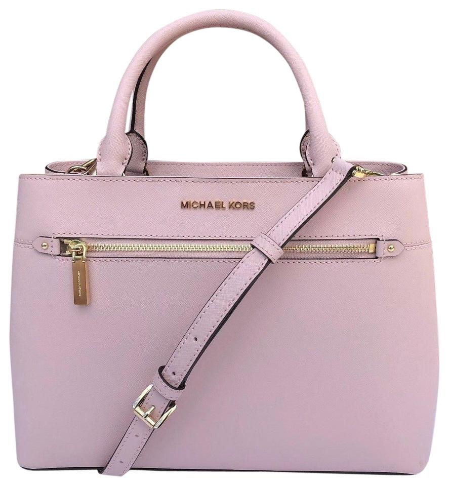 44f6336636c6 Michael Kors Hailee Crossbody Handbag Blossom Leather Satchel - Tradesy