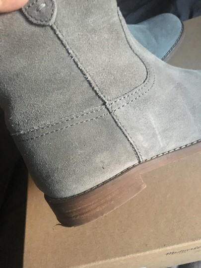Madewell Suede Grey Boots Image 4