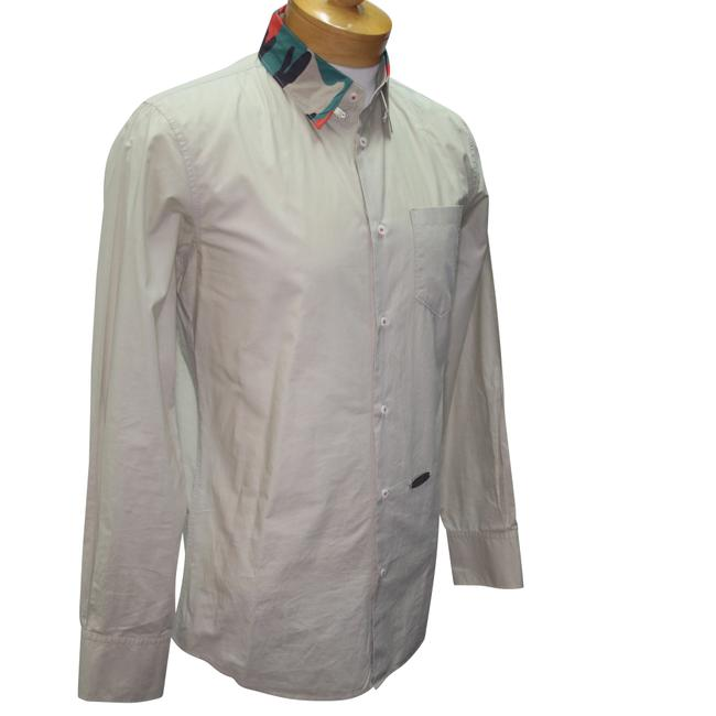 Item - Khaki Classic Dsq2 Camouflage Collar Long Sleeve Shirt Button-down Top Size OS (one size)