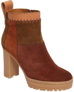 See by Chloé Suede Patchwork Boots