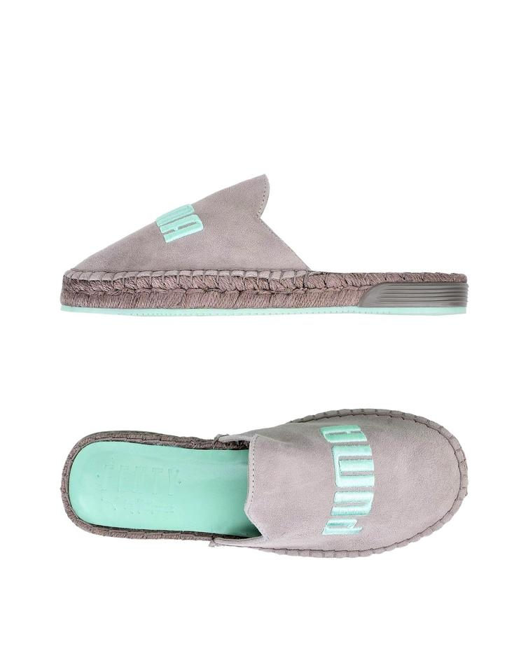 newest e2651 4e954 FENTY PUMA by Rihanna Grey & Mint Green Espadrille Sandals Size US 7.5  Regular (M, B)