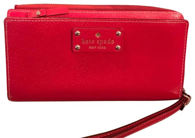 Kate Spade Wellesley Pillbox Red Leather Wristlet Kate Spade Wellesley Pillbox Red Leather Wristlet Image 1