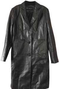 Kenneth Cole Reaction Leather Leather Leather Soft Leather Trench Coat