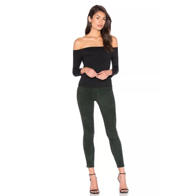Item - Green Stretch Suede Leather Leggings Pants Skinny Jeans Size 2 (XS, 26)