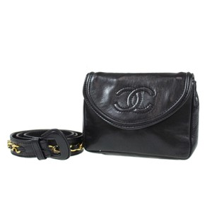 Chanel Leather Limited Edition Vintage Quilted black Clutch
