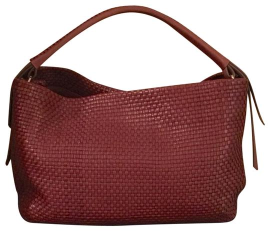 cc8f655dd7d Cole Haan Bethany Weave Single Strap Hobo Brown Leather Shoulder Bag ...