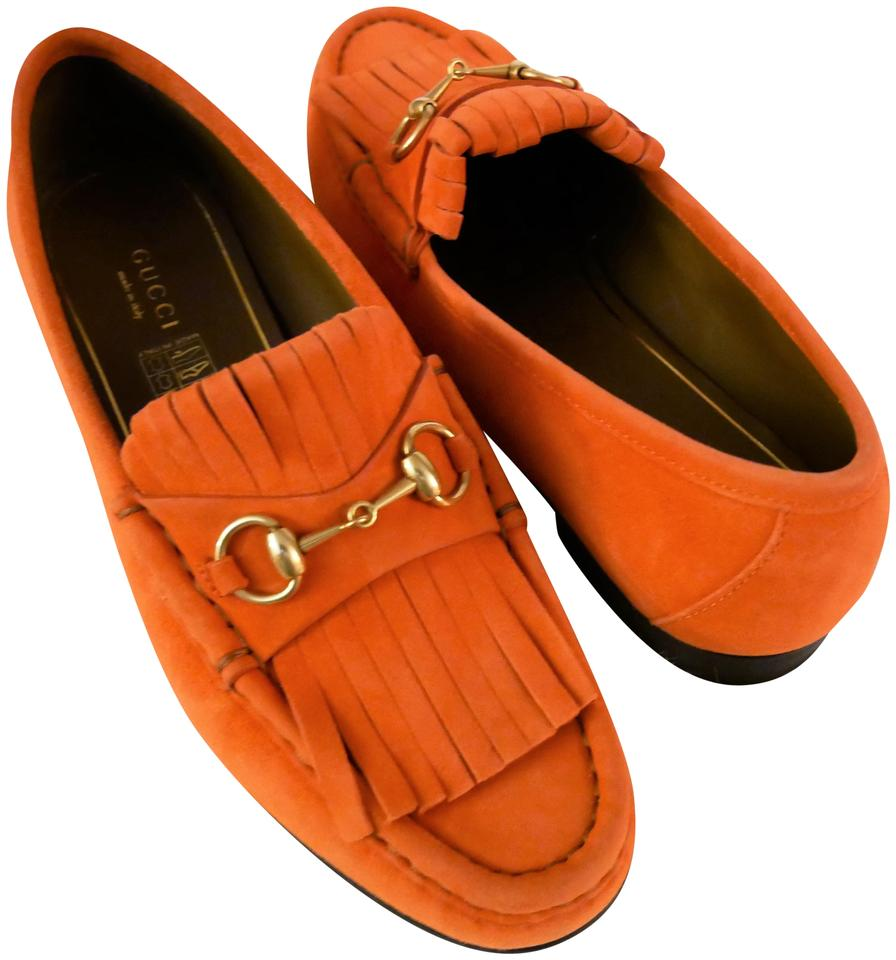 41c39f87229 Gucci Dark Orange Women s Suede Loafer Scamosciato Italy 37 1 2 Formal  Shoes. Size  US 7.5 Regular ...