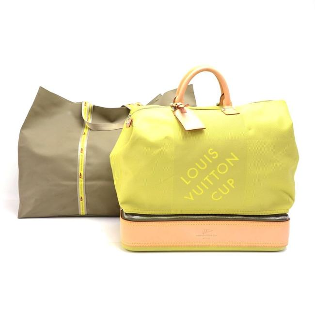 Item - Lv Cup 2003 Southern Cross Damier Geant Lime Canvas Weekend/Travel Bag