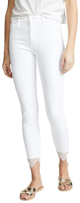 Item - White The Looker Dagger with Lace Capri/Cropped Jeans Size 27 (4, S)