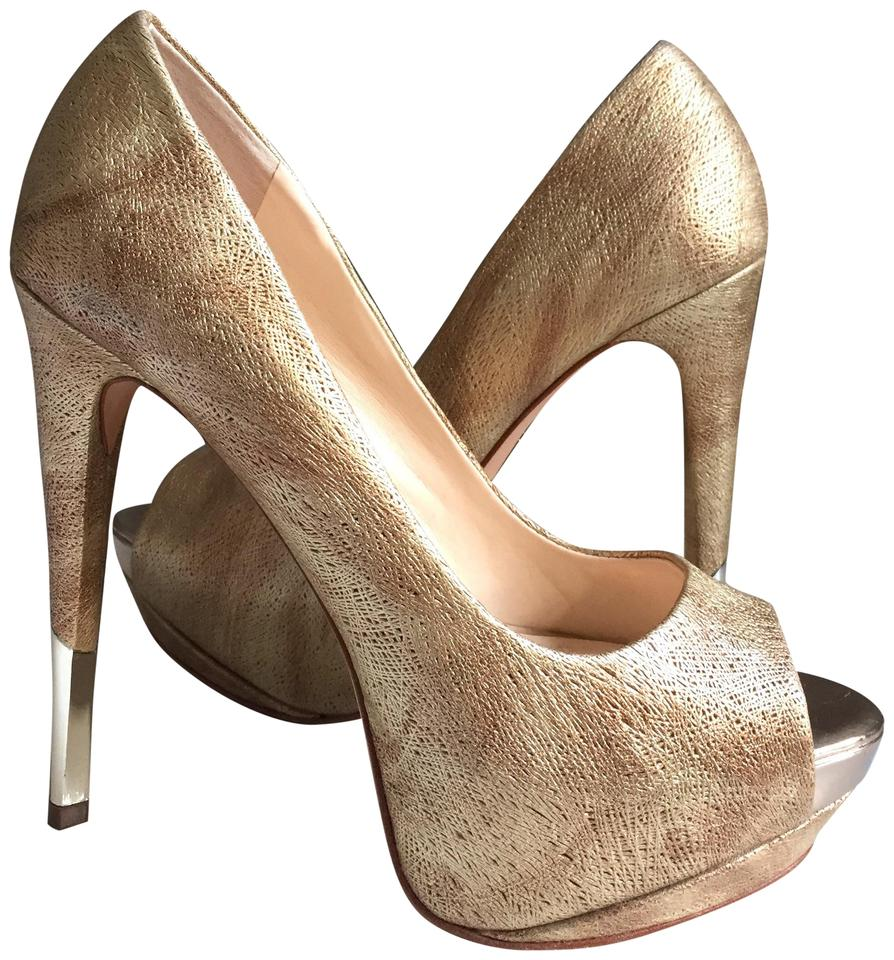 c3aed6e37e4 Boutique 9 Gold Gucci Style Sexy High Heels Pumps Size US 8.5 ...