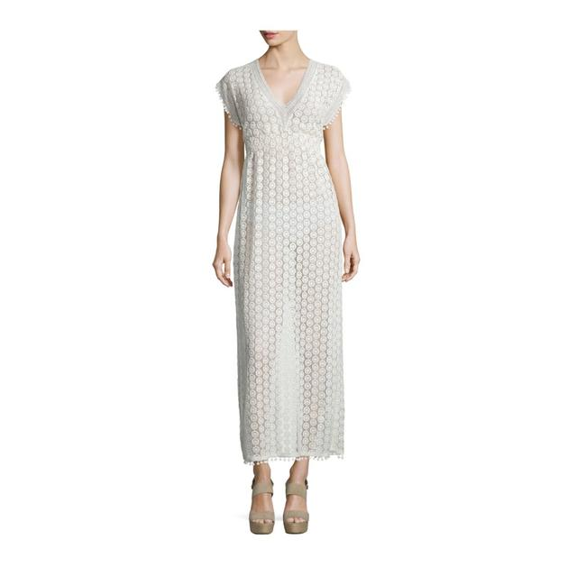 Item - White Crocheted Long Casual Maxi Dress Size 4 (S)