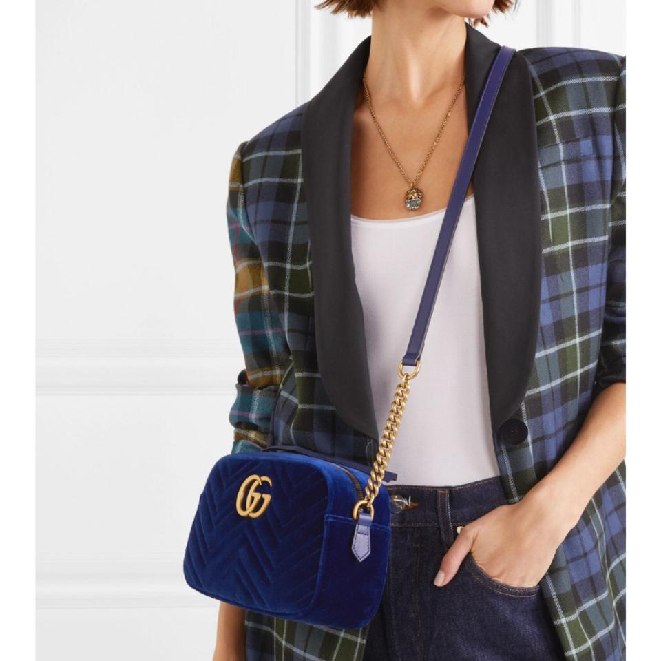 575f6e30f00cd Gucci Marmont Small Quilted Velvet Shoulder Chain Cross Body Bag ...