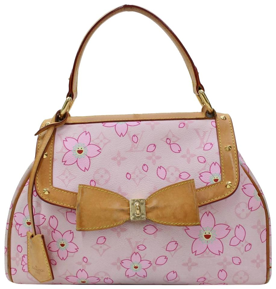 30bed89ad72c Louis Vuitton Murakami Flowers Roses Sprouse Graffiti Satchel in Pink Image  0 ...